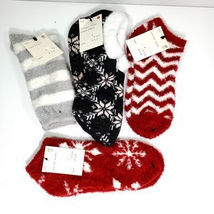 Lot of 4 A New Day Women's Cozy Slipper Socks
